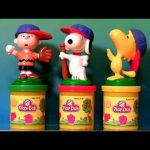 Play Doh Snoopy Charlie Brown Stamper Woodstock The Peanuts Gang Playdough by Disneycollector
