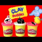 Play-Doh Surprise Clay Buddies PeppaPig Moshi Monsters Smurfs Blind Bags by DisneyCollector