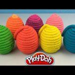 Play Doh Surprise Eggs Disney Princess Cinderella Ariel Snow White Rapunzel Belle Jasmine Aurora Toy