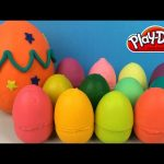 Play doh Surprise Eggs With The Simpsons Teletubbies Minions Disney Frozen Elsa Anna Toys Figurines