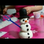 Play doh toys creations. How to make snow man. Nice video for kids
