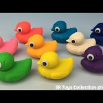 Play Dough Ducks Surprise Toys Mickey Mouse Peppa Pig Maya the Bee Winnie the Pooh for Kids