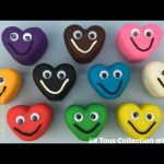 Play Dough Smiley Hearts with Shapes Molds Fun and Creative for Kids