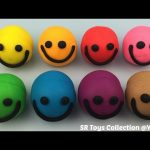 Play & Learn Colours with Playdough Smiley Face with Lion and Crocodile Molds Fun For Kids