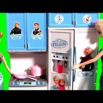 Princess Anna Birthday Present Luxury Kitchen Refrigerator Freezer Toy Disney Frozen Fever Elsa