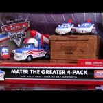 Rocket Mater 4-pack diecast with Big Fan Cars Toon Mater the Greater Disney Pixar