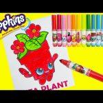 Shopkins Peta Plant Crayola Coloring with Gudetama and Surprises