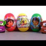 Spongebob Squarepants TOY Surprise Dora the Explorer Easter Eggs Diego Mater Holiday Edition