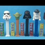 Star Wars PEZ Candy Dispensers include C-3PO Stormtrooper Yoda Darth Vader R2-D2 Chewbacca dispenser