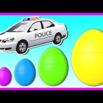 STREET VEHICLES for KIDS   Surprise Eggs Smallest to Biggest! Learn Sizes with Surprise Eggs