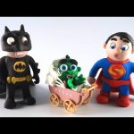 Superhero Babysitter | Batman vs Superman Daycare with Baby Hulk | Stop Motion Movie Clips