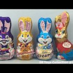Surprise Chocolate Bunny with Teletubbies Tinky Winky Dipsy Laa Laa and Po Toys Inside