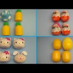 Surprise Egg Opening Learning Game!  Find Which One is Different!  Kinder Surprise Hello Kitty!