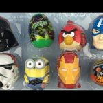Surprise Eggs, Star Wars, Darth Vader, Stormtrooper, Angry Birds Marvel Iron Man Minions Chupa Chups