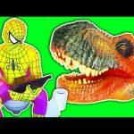 T-Rex vs Spiderman vs Joker – Dinosaur Attack! Spider-man Kidnapped! Superhero Movie In Real Life