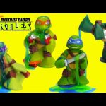 Teenage Mutant Ninja Turtles Water Fight and Slime Each Other