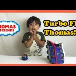 Thomas and Friends TURBO FLIP THOMAS playtime unboxing remote control toy trains Ryan ToysReview