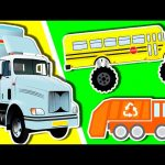 Trucks For Kids Collection | Monster Trucks Learn Colors and Numbers | Surprise Eggs Nursery Rhymes