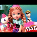 Young Anna Toddler Dolls 2014 Olaf Snowman Playdoh Disney Princess Frozen