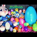 Zootopia Judy Hopps Easter Eggs Hunt Nick wilde Minions Paw Patrol Shopkins  Frozen Mickey Mouse Egg