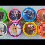 ZOOTOPIA Play Doh Cans Surprises  Disney Toys  Inside Out Shopkins Zootropolis