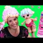 Lalaloopsy Baby & DisneyCarToys Mr Bubble Foam Soap Hair Makeover Surprise Colors Bath Foam Style