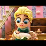 Elsa's New Baby is HUGE * Masha and the Bear Play Doh Movie Clips * Disney Frozen Stop-Motion