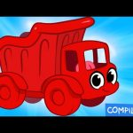 My Red Dump Truck (+ 1 hour My Magic Pet Morphle Mega Vehicle compilation for children!)