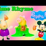 PEPPA PIG Nickelodeon Peppa Pig Slime School Poem Peppa Pig + Mickey Mouse Video Toy Parody