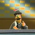 Sesame Street – Monty hosts RNN (Ridiculous News Network)