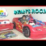 Ryan's Room Tour Disney Pixar Cars Lightning McQueen Toys Theme Bedroom