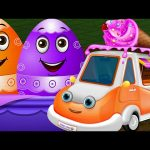 Surprise Eggs Learn UTILITY Vehicles Toys | Ice Cream Van, Garbage truck & more | ChuChuTV Surprise