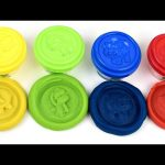 Fun Doug kit 4 colors,Yellow, Green, Blue & Red . Animals press molde lids
