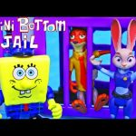 ZOOTOPIA Toys in JAIL ☆ SpongeBob SquarePants Bikini Bottom Jail + Judy & Nick from Zootopia Movie