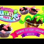 Yummy Nummies Worms in Dirt Cookie and Candy Dessert with DIY Gummy Worms for Kids by DisneyCarToys