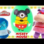 Play Doh Costume – Minion as Mickey Mouse Giant Surprise Egg – Inside Out Doc McStuffins