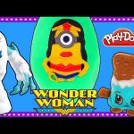 Wonder Woman x Minions Giant Play Doh Surprise Egg Mashup | Opening Eggs & Surprise Toys on DCTC