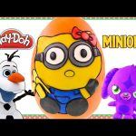 HELLO KITTY as a Minion Gigantic Play Doh Egg Surprise | Cute Sanrio Minions Surprise Toys DCTC