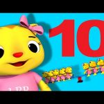 Ten Little Animals | Numbers Song | Nursery Rhymes | by LittleBabyBum!