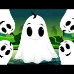 Five Naughty Ghosts | Halloween Nursery Rhyme Songs For Children's | Kids TV