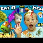 Chase's Corner: EAT IT or WEAR IT CHALLENGE w/ Ninja Turtles Michelangelo (#39) | DOH MUCH FUN 4K