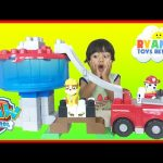 Paw Patrol Toys Ionix Jr. Tower Block Set The Lookout Turtle Rescue Rubble  Ryan ToysReview