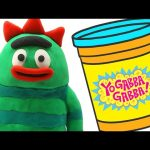 Yo Gabba Gabba STOP MOTION Play doh video — Nesting Doll Toys Animation