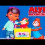 ALVIN AND THE CHIPMUNKS + DOC MCSTUFFINS Christmas Pox Slime Prank Toy Parody Video