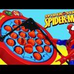 Spiderman Let's Go Fishin Family Fun Night Kids Game Spidey vs DisneyCarToys Board Game Challenge