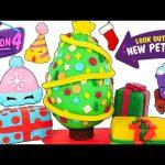 Surprise SHOPKINS Season 4 New PLAY DOH Christmas Tree Egg and Presents