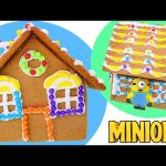 New MINIONS Gingerbread House – – – Edible Candy Minions and Icing