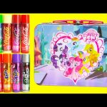 My Little Pony Tin Lip Smackers and Shopkins Season 5 with Magiki Mermaid