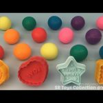 Fun Play and Learn Colours with Play Dough Balls with Molds for Kids