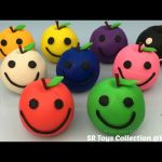 Play Doh Apples Smiley Face with Vegetable Molds Fun Creative